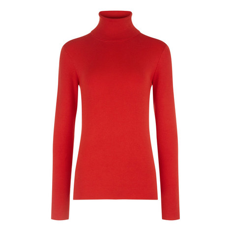 Roll Neck Stretch Silk Sweater, ${color}