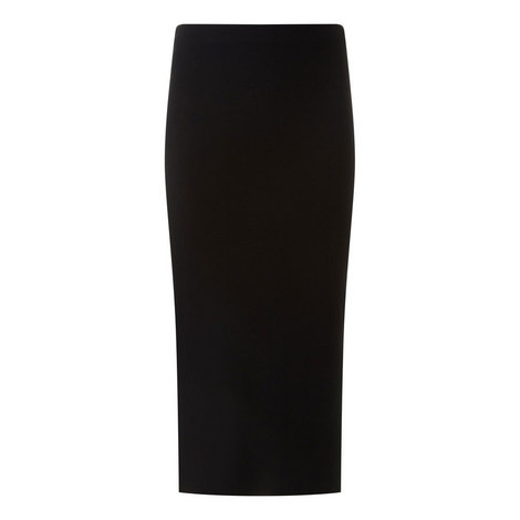 Pencil skirt-Silk Stretch, ${color}