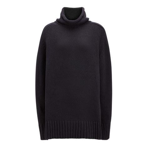 High Neck Sloppy Joe Sweater, ${color}