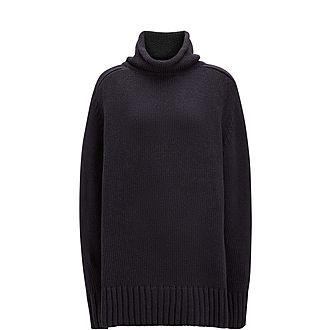 High Neck Sloppy Joe Sweater
