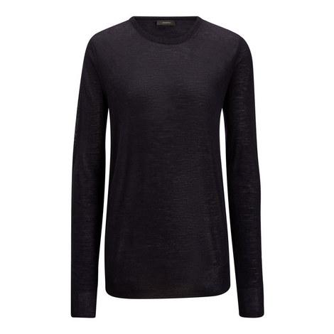 Cashair Patch Sweater, ${color}