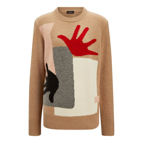 Painting Intarsia Sweater, ${color}
