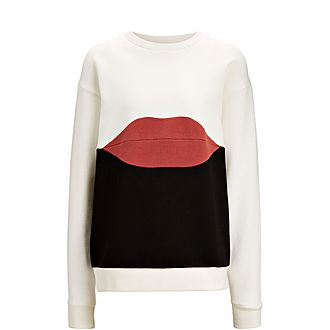 Lips Patchwork Sweater