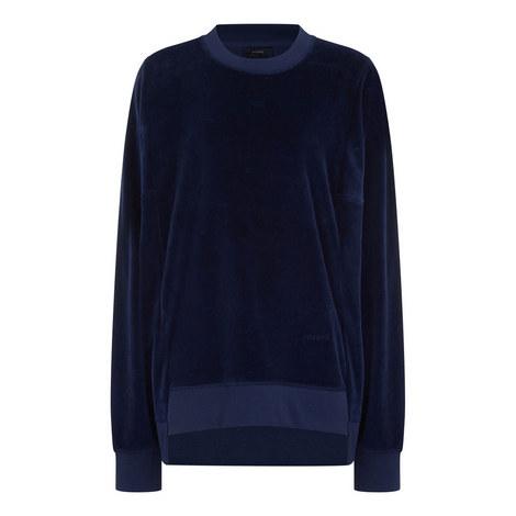 Jersey Velours Sweatshirt, ${color}