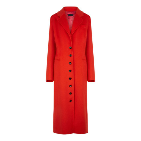 New Marline Feather Double Cashmere Coat, ${color}