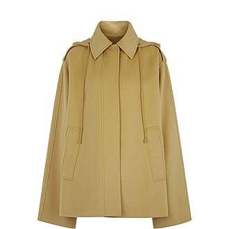 Carbon Short-Feather Double Cashmere Coat