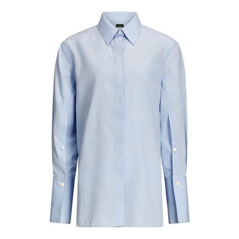 Mason Poplin Chambray Shirt, ${color}