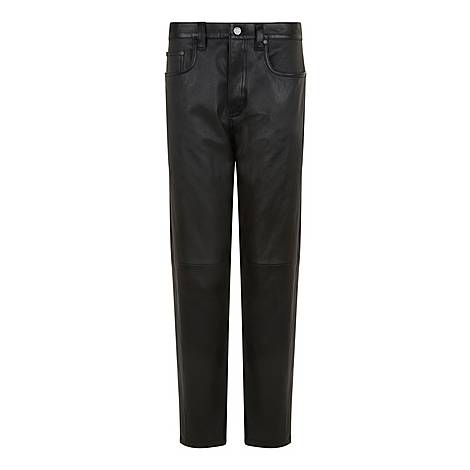 Kemp-Stretch Leather Trousers, ${color}