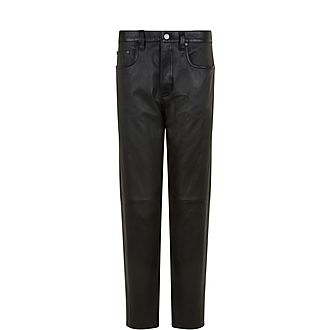 Kemp-Stretch Leather Trousers