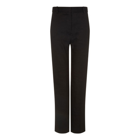 Zoom Linen Stretch Trousers, ${color}
