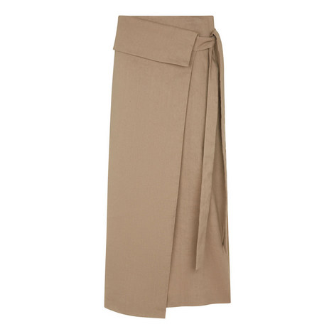 Finch Linen Stretch Skirt, ${color}