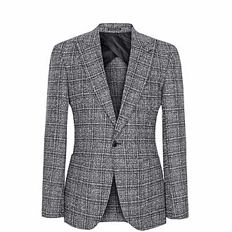 Aston Checked Single-Breasted Blazer