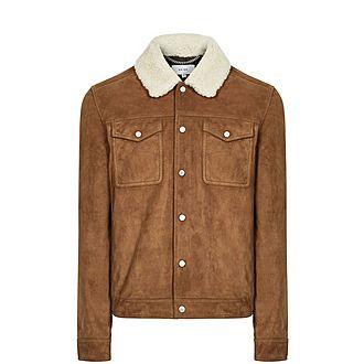 Miles Shearling Collar Tobacco Coat