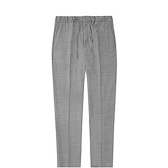 Solomeo Wool Blend Drawstring Trousers