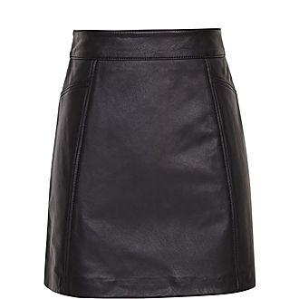 Arden Leather Mini Skirt