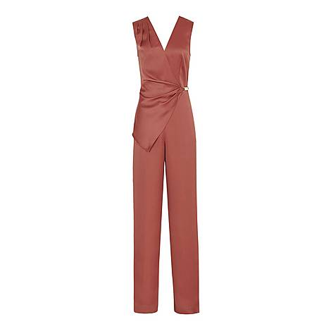 Vita Wrap Front Jumpsuit, ${color}