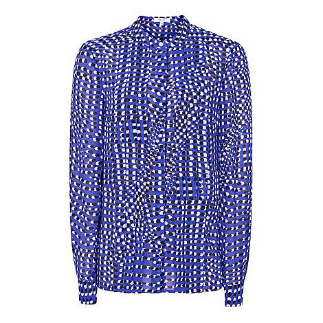Lea Spot Print Blouse, ${color}