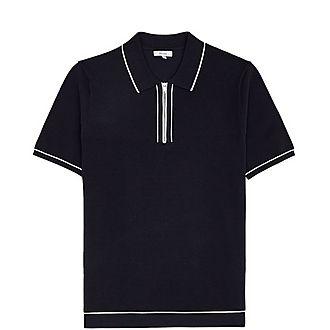 Lyle Zip Neck Polo Shirt