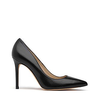 Fern Pointed Toe Leather Courts