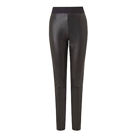 Agi Faux Leather Trousers, ${color}