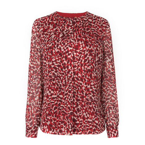 Damiell Animal Print Top, ${color}