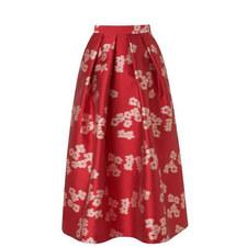 Sana Jacquard Floral Skirt