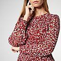 Damiell Animal Print Dress, ${color}
