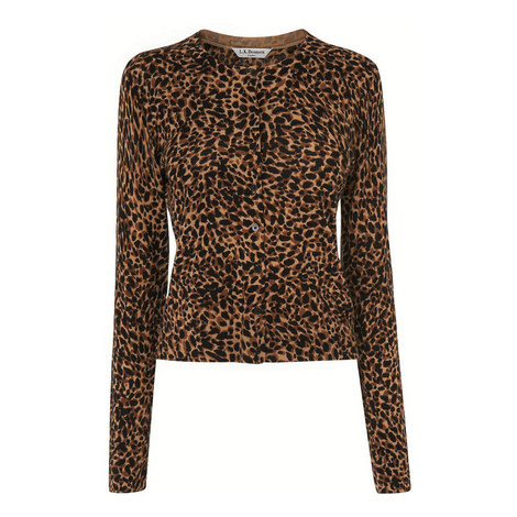 Nestie Leopard Cardigan, ${color}