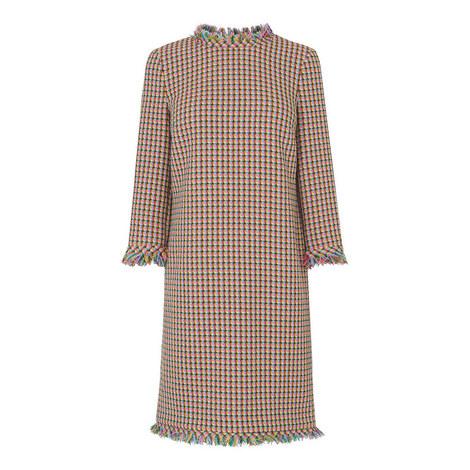 Conilia Raw Edge Tweed Dress, ${color}