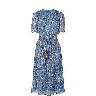 Eve Tie Waist Silk Dress