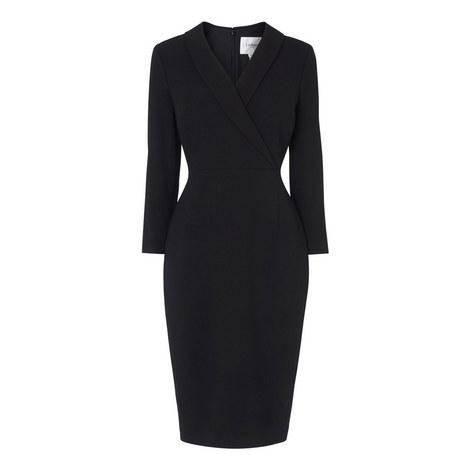 Effie Tuxedo Collar Dress, ${color}