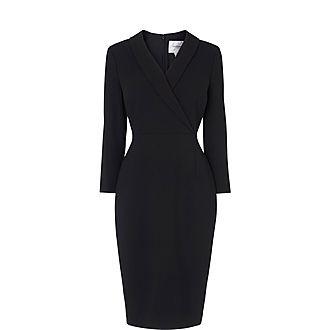 Effie Tuxedo Collar Dress