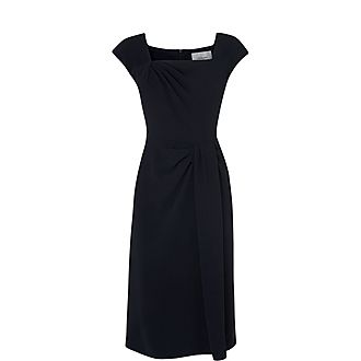Denise Pleated Shift Dress