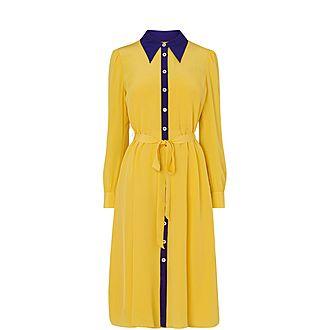 Debra Silk Shirt Dress