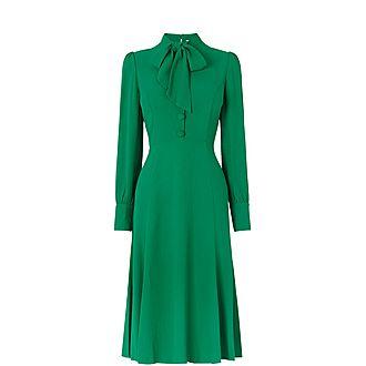 Mortimer Satin Tea Dress