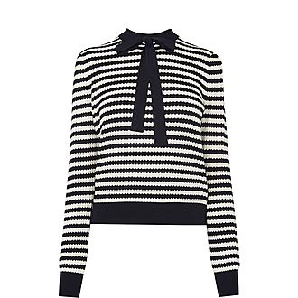 Lottie Striped Bow Sweater