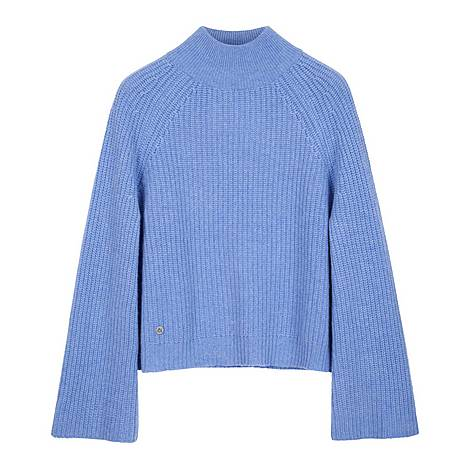 Stand Up Collar Sweater, ${color}