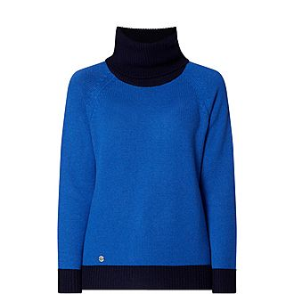 Contrast Polo Sweater