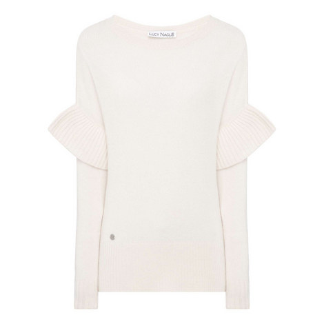 Ruffle Sleeve Sweater, ${color}
