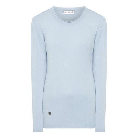 Reverse Seam Cashmere Sweater, ${color}