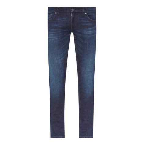 Long John Skinny Fit Jeans, ${color}