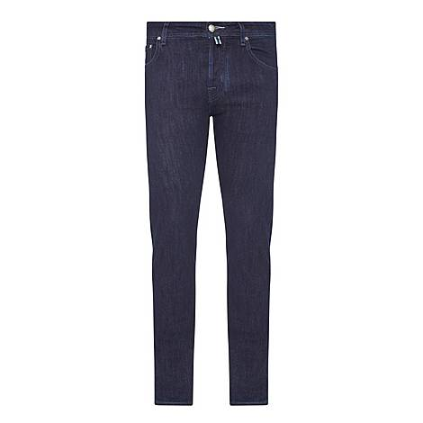 Tonal Stitch Tailored Jeans, ${color}
