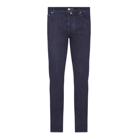 Tonal Stitch Tailored Jeans , ${color}