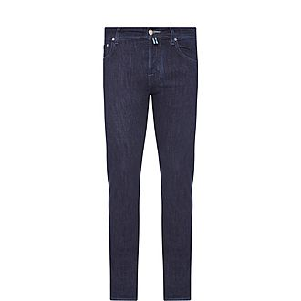 Tonal Stitch Tailored Jeans