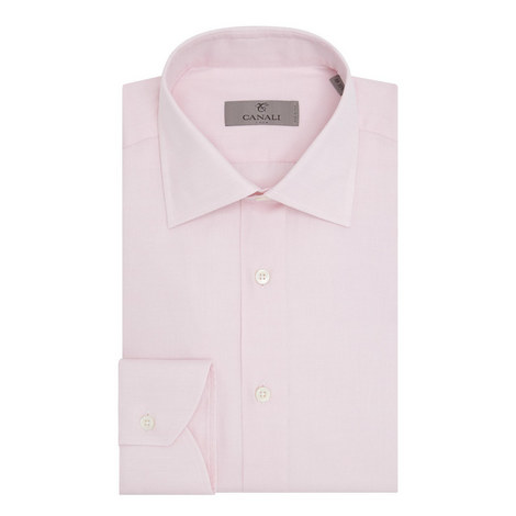 Slim Fit Button Down Shirt, ${color}
