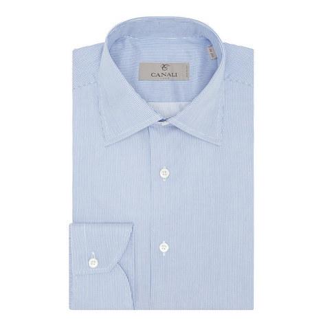 Modern Fit Fine Stripe Shirt, ${color}