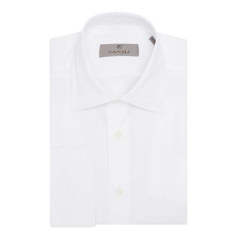 Double Cuff Cotton Shirt, ${color}