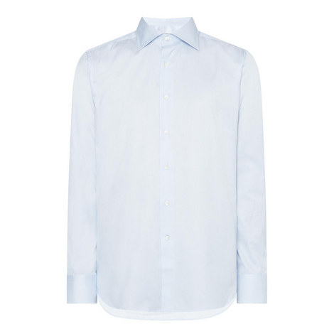 Micro Stripe Buttoned Shirt, ${color}