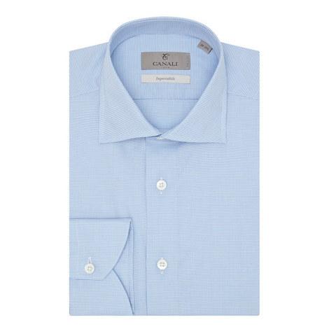 Impeccable Micro-Check Shirt, ${color}
