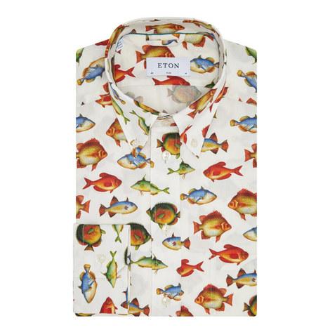 Large Fish Print Shirt, ${color}